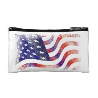 Bolso del cosmético/del viaje de la bandera
