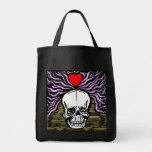 Bolso del cráneo del amor bolsas de mano