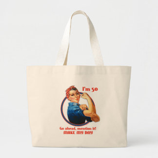 Bolso del cumpleaños del remachador de Rosie 50.o Bolsa Tela Grande