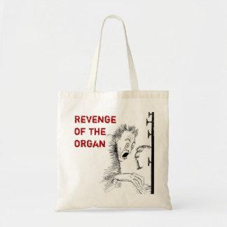 Bolso del dibujo animado del órgano bolsa tela barata