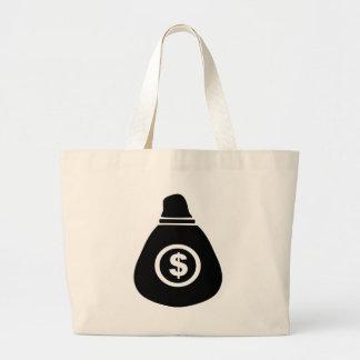 Bolso del dinero bolsa tela grande