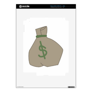 Bolso del dinero iPad 2 calcomanía