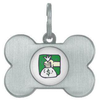 Bolso del dinero placa de mascota
