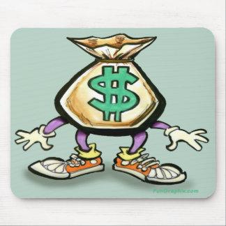 Bolso del dinero mouse pads