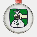 Bolso del dinero ornamento para arbol de navidad