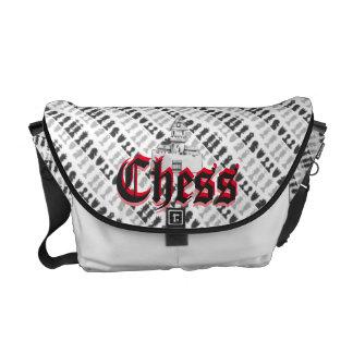 Bolso del diseñador del ajedrez bolsas de mensajeria
