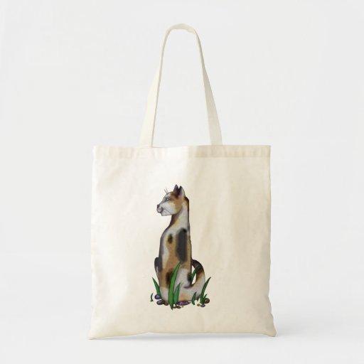 bolso del diseñador del gatito de la coma bolsa tela barata