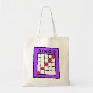 Bolso del diseño de tarjeta del bingo del dibujo a bolsa tela barata