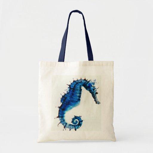 Bolso del diseño del arte del Seahorse Bolsa Tela Barata