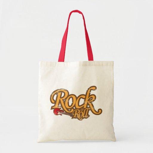 Bolso del diseño del vintage - rock-and-roll bolsa tela barata