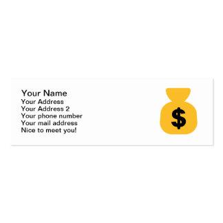 Bolso del dólar tarjetas de visita mini