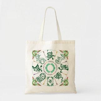 Bolso del dragón verde del Mah Jongg Bolsas