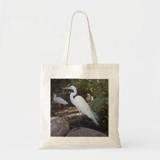 """Bolso del """"Egret hermoso"""" Bolsa Tela Barata"""