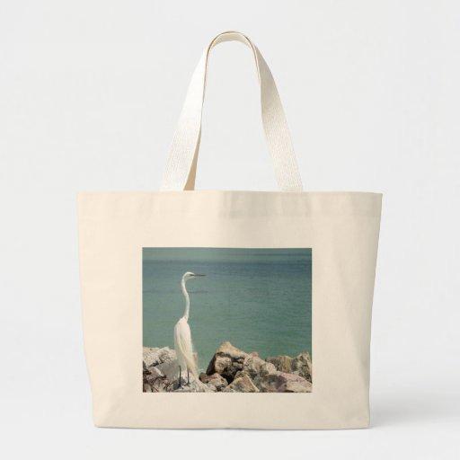 Bolso del Egret nevado Bolsa De Mano
