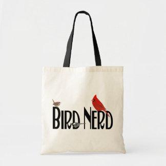 Bolso del empollón del pájaro bolsa lienzo