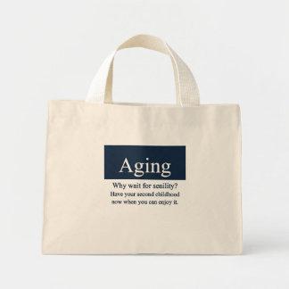 Bolso del envejecimiento bolsa tela pequeña