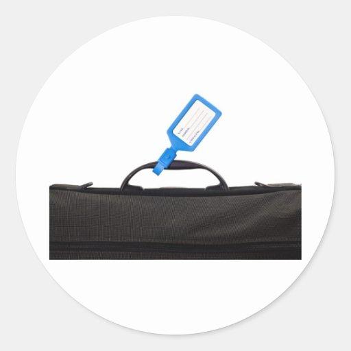 Bolso del equipaje con la etiqueta de