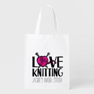 Bolso del escondite de las lanas del amor que hace bolsa para la compra
