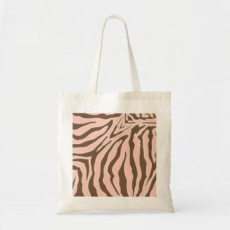 Bolso del estampado de zebra del melocotón y de Br Bolsa Tela Barata