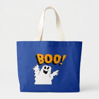 Bolso del fantasma 2 Halloween del abucheo Bolsa Tela Grande
