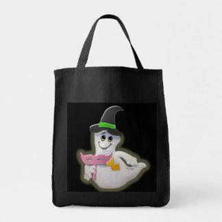 Bolso del fantasma de Halloween que brilla intensa Bolsa De Mano