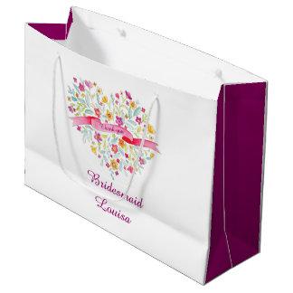 Bolso del favor de la dama de honor del boda del bolsa de regalo grande