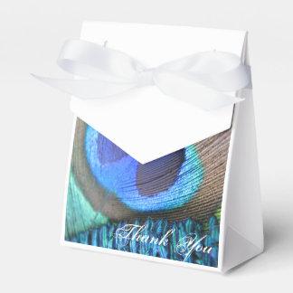 Bolso del favor de la pluma del pavo real cajas para detalles de boda