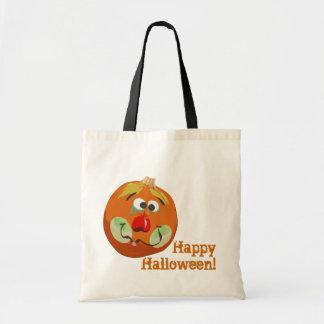 Bolso del feliz Halloween de la calabaza del payas Bolsa Tela Barata