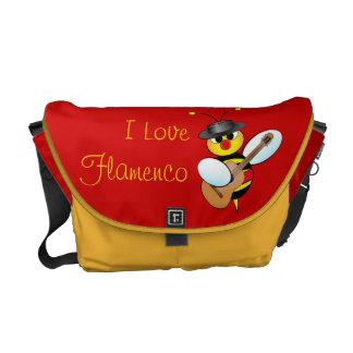 Bolso del flamenco bolsa de mensajería