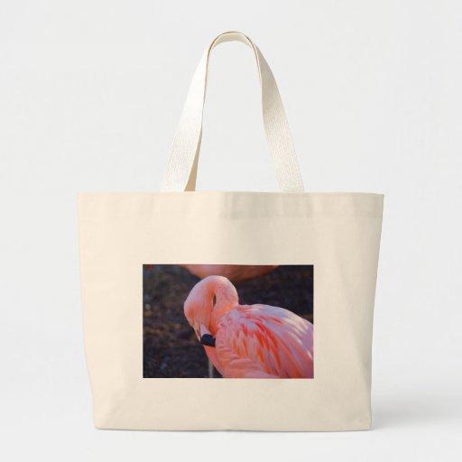 Bolso del flamenco bolsas lienzo