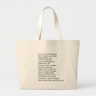 bolso del folleto del convenio del negocio - modif bolsa tela grande
