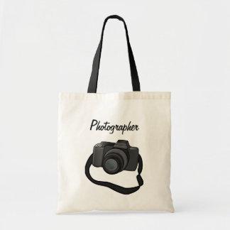 Bolso del fotógrafo con adorno de la cámara bolsas lienzo