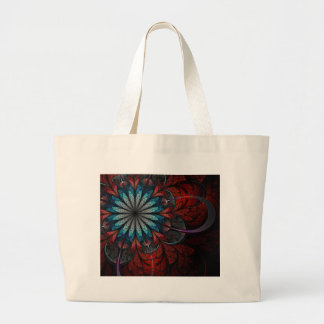 Bolso del fractal: Flor I Bolsa Tela Grande