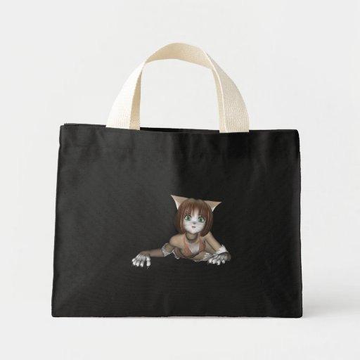 Bolso del gatito del animado bolsa de mano