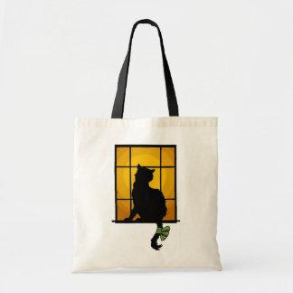 Bolso del gato de la ventana