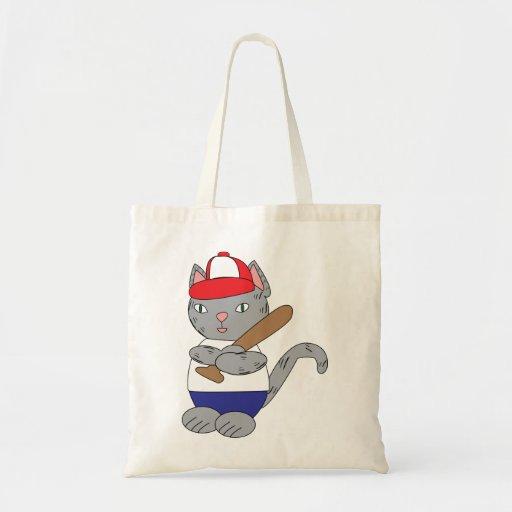 Bolso del gato del béisbol bolsa tela barata