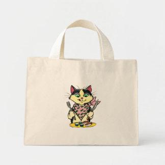 Bolso del gato del sushi bolsas de mano