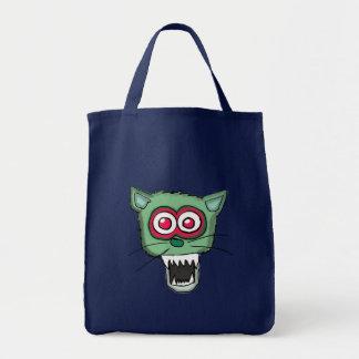 Bolso del gato del zombi bolsa de mano