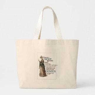 Bolso del genio de Jane Austen Bolsa Tela Grande