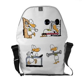 Bolso del gimnasio del dibujo animado del pato del bolsa de mensajeria