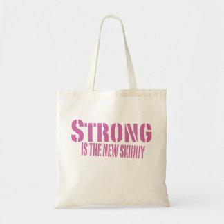 Bolso del gimnasio - fuerte es el nuevo flaco bolsa tela barata