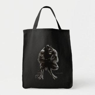 Bolso del hombre lobo bolsa tela para la compra