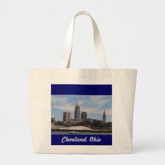 Bolso del horizonte de Cleveland Ohio Bolsa Tela Grande