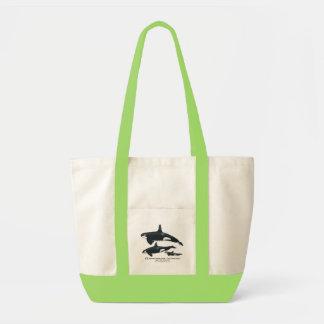 Bolso del impulso de la familia de la orca bolsa tela impulso