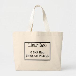 bolso del lino de 6 ranuras bolsa lienzo