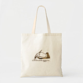 Bolso del logotipo de GeneaBloggers Bolsa Tela Barata