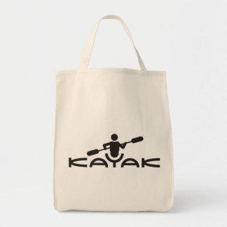 Bolso del logotipo del kajak bolsas lienzo