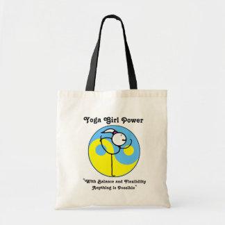 Bolso del logotipo del poder del chica de la yoga bolsa tela barata