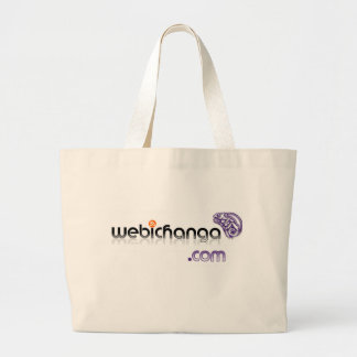 bolso del logotipo del webichanga bolsa tela grande