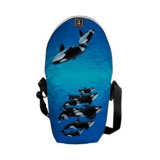 Bolso del mamífero marino de la muestra bolsa de mensajeria